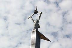 对飞行员雷宾斯克的纪念碑 免版税库存图片