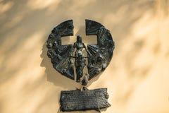 对饥荒的受害者的纪念品在乌克兰在克拉科夫波兰 免版税图库摄影