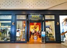 对马可波罗拉尔夫劳伦商店的入口 免版税库存照片