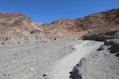 对马赛克峡谷的入口在死亡谷国家公园 免版税库存图片