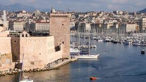 旧港口在马赛,法国 股票录像