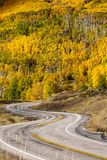 对高地的风景看法在小路12在犹他,美国 库存照片