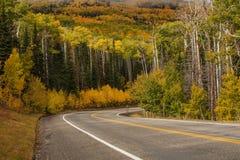 对高地的风景看法在小路12在犹他,美国 免版税库存图片