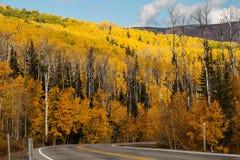 对高地的风景看法在小路12在犹他,美国 库存图片