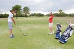 对高尔夫球的天 免版税库存照片