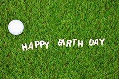 对高尔夫球运动员的生日快乐 库存照片