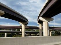 对高速公路天桥 免版税库存照片