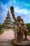 对统一纪念碑的外视图,雅温得,喀麦隆 库存照片