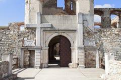 对17世纪巨型城堡, Krzyztopor,波兰的门户 免版税库存照片