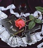 对死亡的对爱的爱和死亡 库存照片