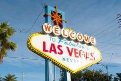 对维加斯欢迎的las符号 库存图片