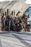 对1944年华沙起义的纪念品在华沙 免版税库存照片