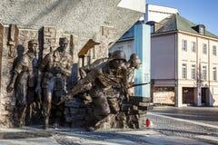 对1944年华沙起义的纪念碑在华沙 免版税库存照片