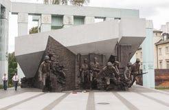 对1944年华沙起义的纪念碑 免版税库存照片