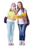 对年轻学生 库存照片