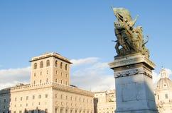 对维托里奥Emanuelle的纪念碑III (Vittoriano) 库存图片