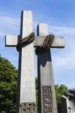 对1956年6月的受害者的纪念碑在波兹南 波兰 免版税库存图片