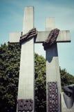 对1956年6月的受害者的纪念碑在波兹南 波兰 免版税库存照片