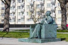 对1月Karski的纪念碑在华沙 库存照片
