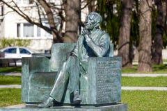 对1月Karski的雕象 图库摄影