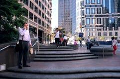 对洛杉矶街市的午间视图  图库摄影