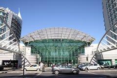 对购物中心瓦斯科・达伽马,里斯本的入口 库存图片