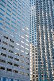 对玻璃钢青色背景的全景和透视广角视图  图库摄影