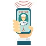 对医生的电话 向量例证