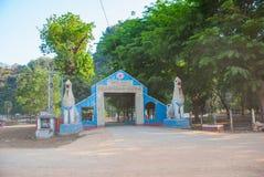 对洞的入口 Hpa-An,缅甸 缅甸 免版税图库摄影