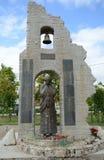 对洪水的受害者的纪念碑在Krymsk 免版税库存图片