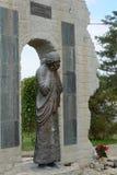 对洪水的受害者的纪念碑在Krymsk 库存图片