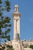 对1812的宪法的纪念碑在卡迪士 免版税库存图片