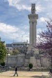 对1812的宪法的纪念碑,卡迪士,西班牙 免版税库存图片