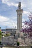 对1812的宪法的纪念碑,参观纪念碑的游人 库存图片