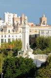 对1812的宪法的纪念碑 卡迪士西班牙 库存图片