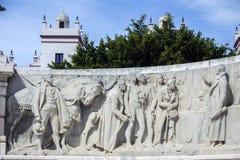 对1812的宪法,做的装饰细节的纪念碑  免版税库存照片