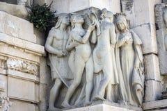对1812的宪法,做的装饰细节的纪念碑  库存照片