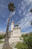 对1812的宪法,全景,卡迪士的纪念碑,和 免版税库存照片