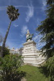对1812的宪法,全景,卡迪士的纪念碑,和 免版税图库摄影