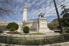 对1812的宪法,全景,卡迪士的纪念碑,和 免版税库存图片