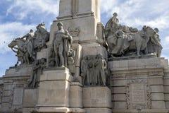 对1812的宪法,装饰细节的纪念碑 图库摄影