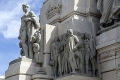 对1812的宪法,装饰细节的纪念碑 库存图片