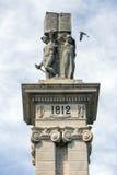 对1812的宪法,装饰细节的纪念碑 免版税库存照片