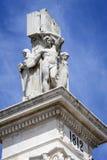 对1812的宪法,装饰细节的纪念碑 库存照片