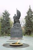对1917的社会主义革命的年战斗机的纪念碑 免版税库存照片