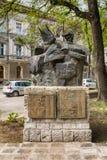 对`的纪念碑他们的信念`,被上升以记念下落的受害者在90的战争中和轰炸1999年 免版税库存照片