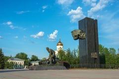 对1905的革命家的年纪念碑在革命正方形15 免版税库存照片