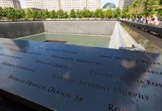 对200的9月11日,受害者的纪念喷泉 免版税图库摄影