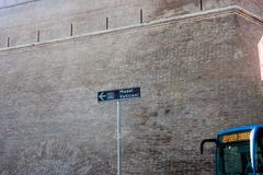 对`穆塞伊Vaticani `的方向标 免版税库存照片
