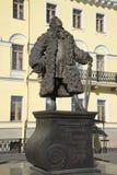 对建筑师多梅尼科Trezzini的纪念碑 圣彼德堡 免版税图库摄影